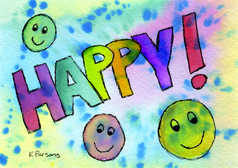 """Happy"" original fine art by Kali Parsons"