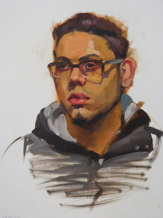 """Painting Faces..."" original fine art by Kathy Weber"