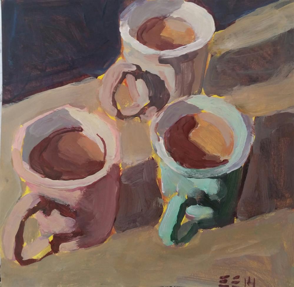 """Holiday Cafe Mocha"" original fine art by Liz Maynes"
