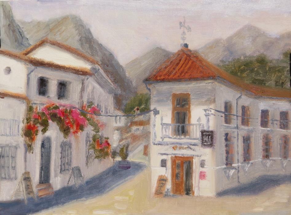 """Grazalema"" original fine art by Richard Kiehn"