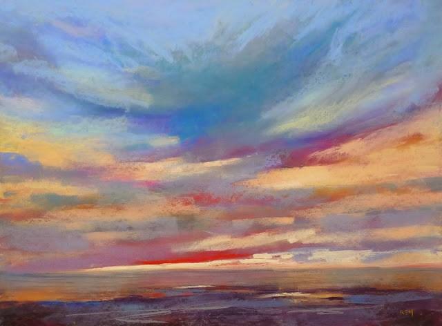 """How to Find the Best Sunset Spot.....A Plein Air Story"" original fine art by Karen Margulis"