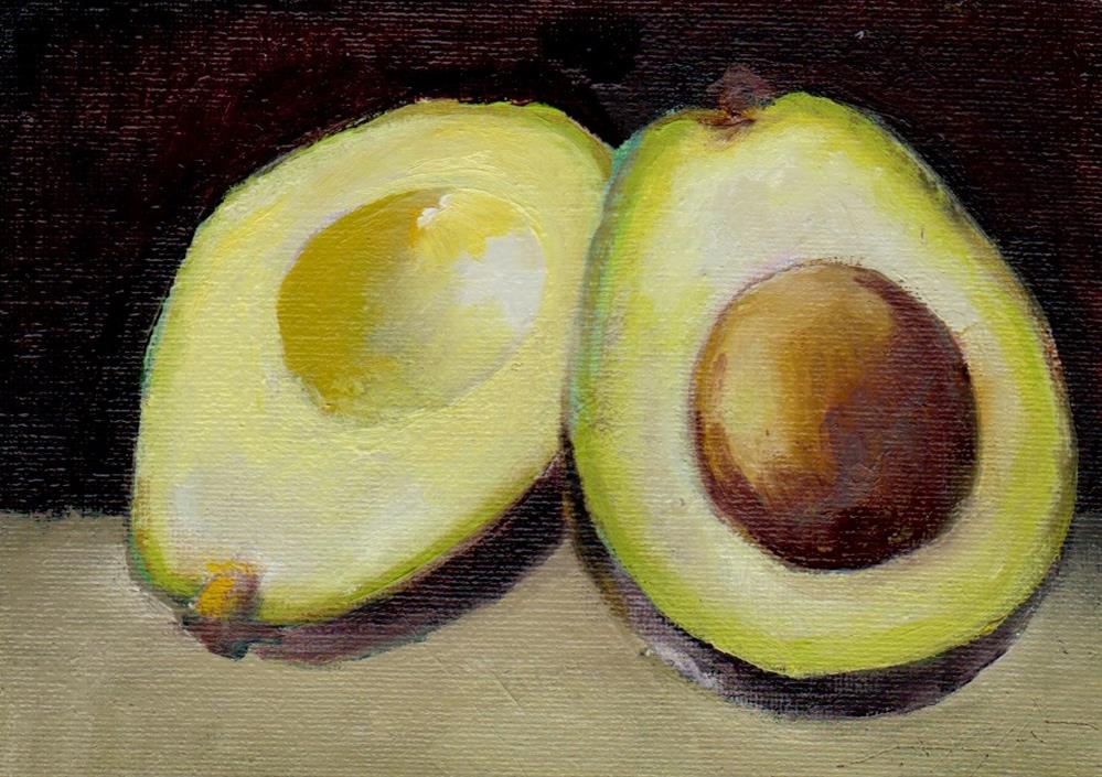 """avocado study"" original fine art by V. DeBak"