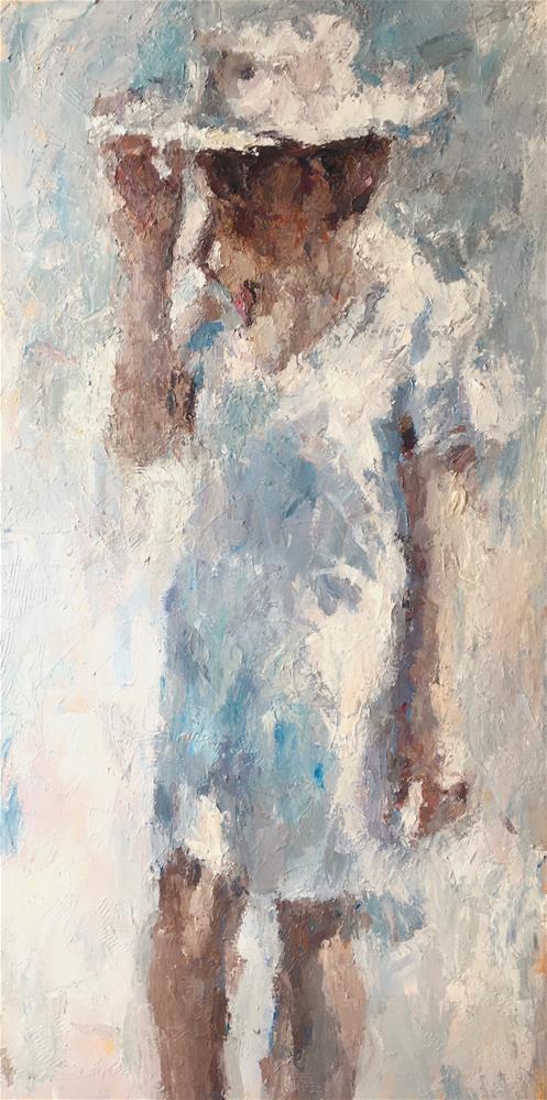 """A Walk in the Sun"" original fine art by Nava Judith"