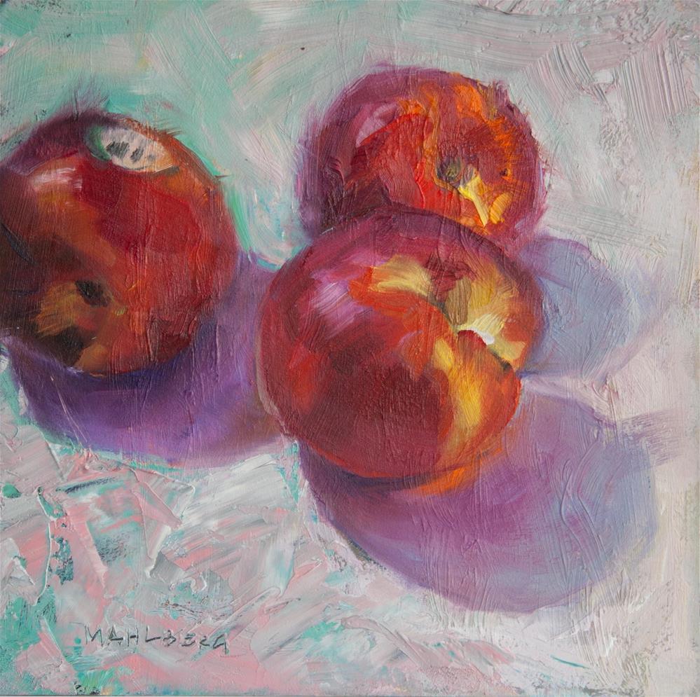 """Nectarine Scan"" original fine art by Cynthia Mahlberg"