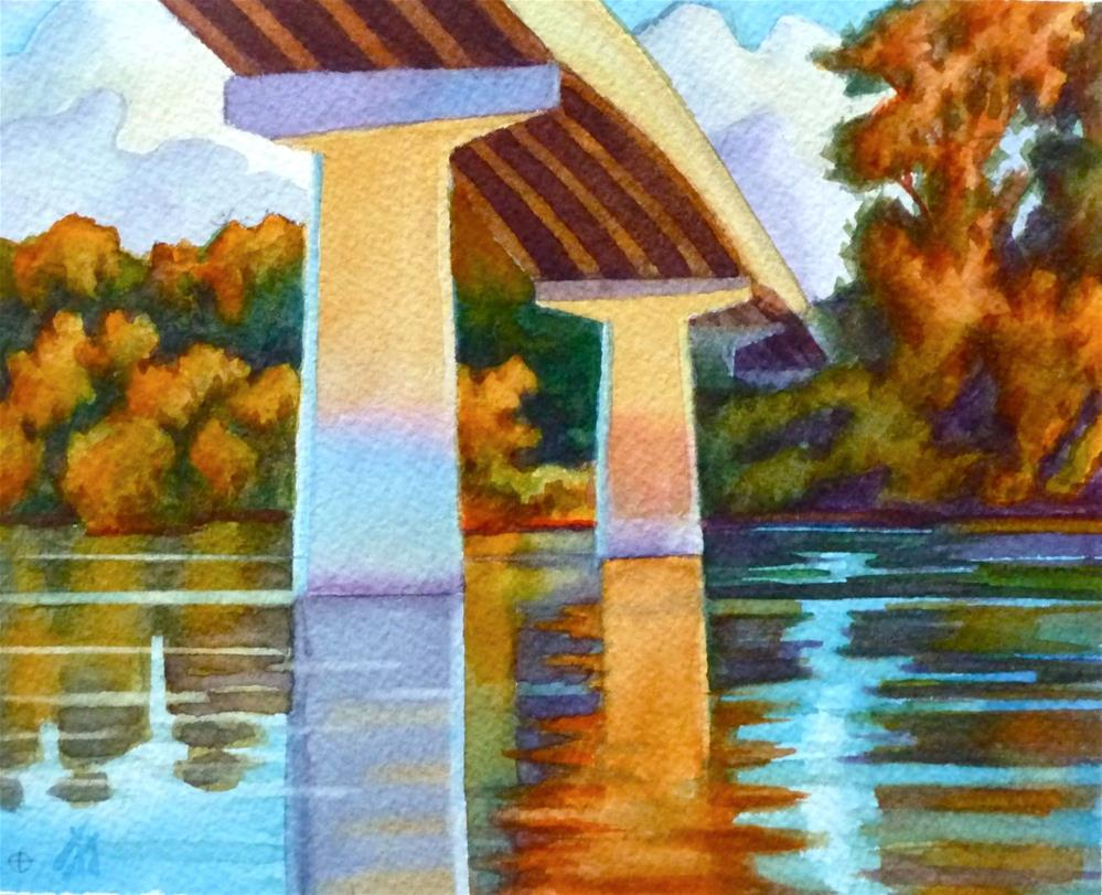 """Takena Bridge"" original fine art by Mark Allison"