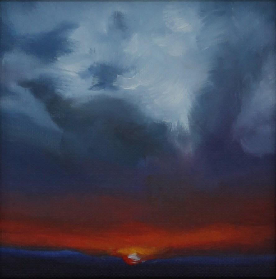 """Sunset Symmetry (framed)"" original fine art by Pamela Poll"