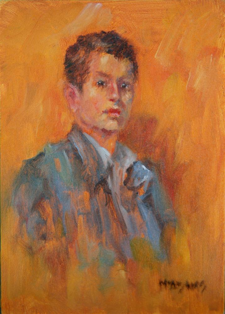 """Young Gentleman"" original fine art by Phyllis McAdams"