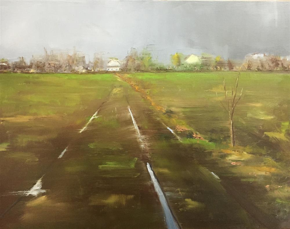 """Showers"" original fine art by Gary Bruton"