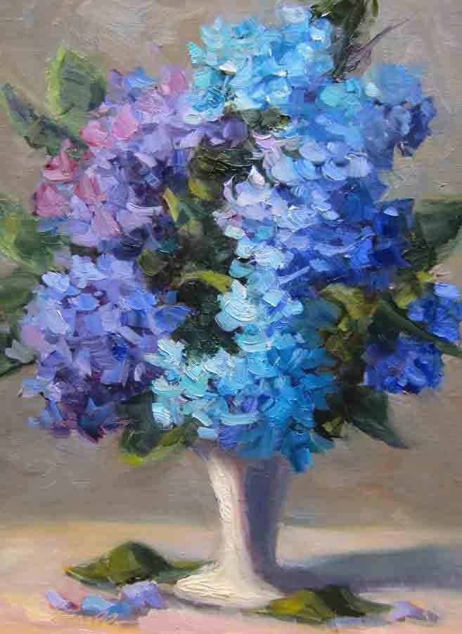"""""""Hydrangea  Fun"""" original fine art by Pat Fiorello"""