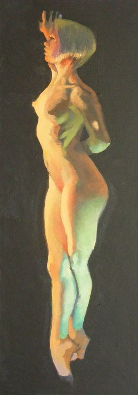 """Suspended Nude"" original fine art by Peter Orrock"