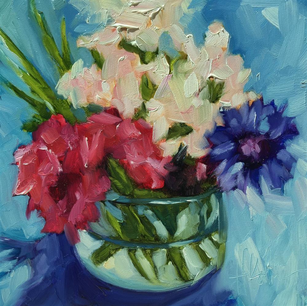 """Farmer's Market Flowers"" original fine art by Hallie Kohn"