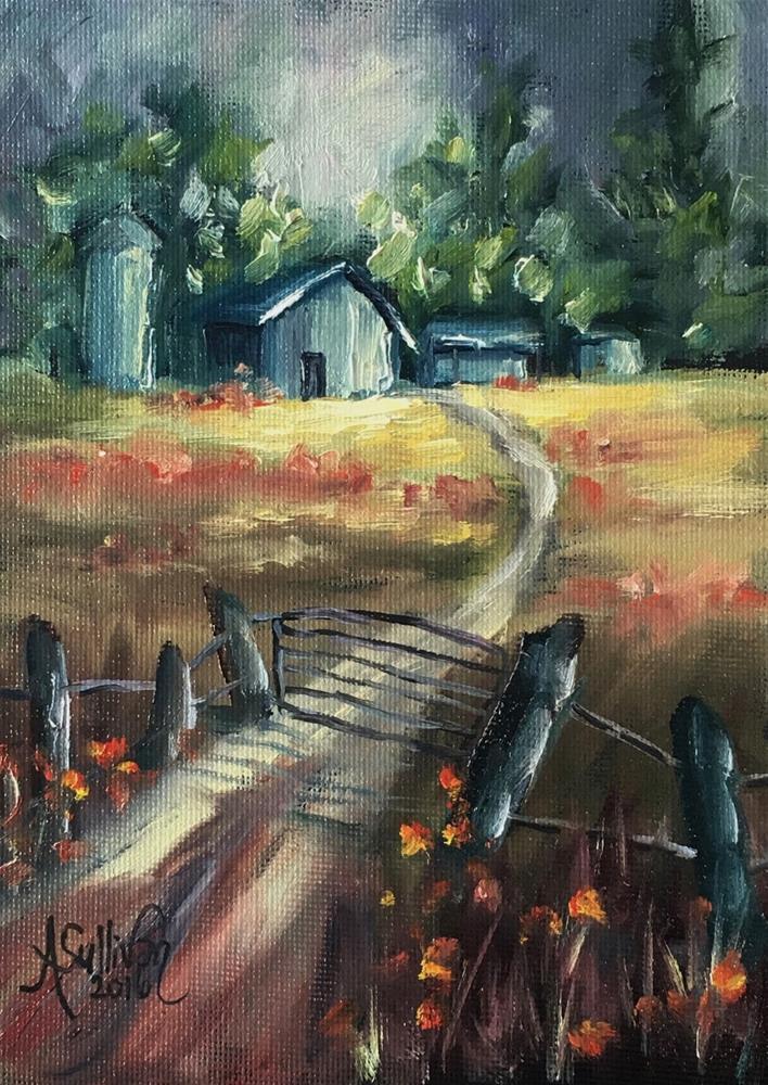 """Through The Closed Gate by Alabama Artist Angela Sullivan"" original fine art by Angela Sullivan"