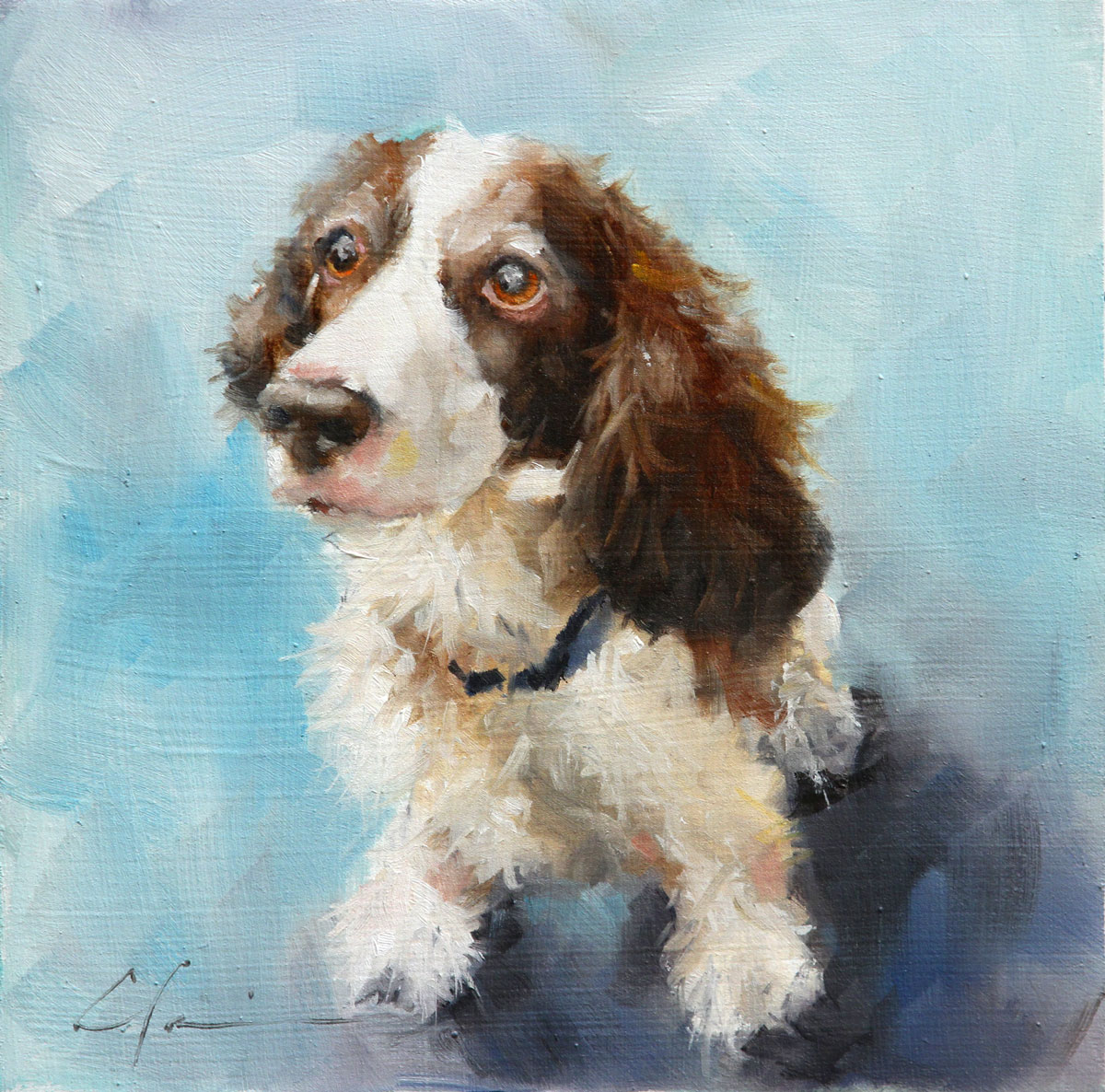"""Ginger (lost dog series)"" original fine art by Clair Hartmann"