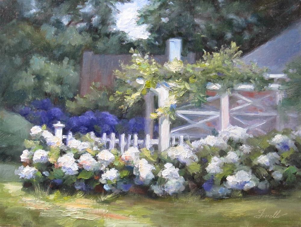 """Hydrangea Garden III"" original fine art by Pat Fiorello"