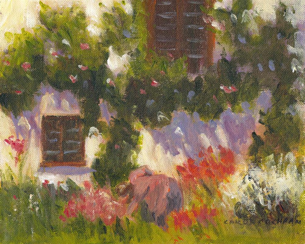 """The Gardener"" original fine art by Carol Cochran"
