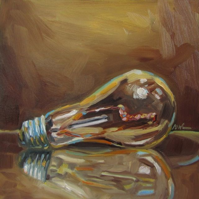 """ANOTHER BRIGHT IDEA"" original fine art by Mb Warner"