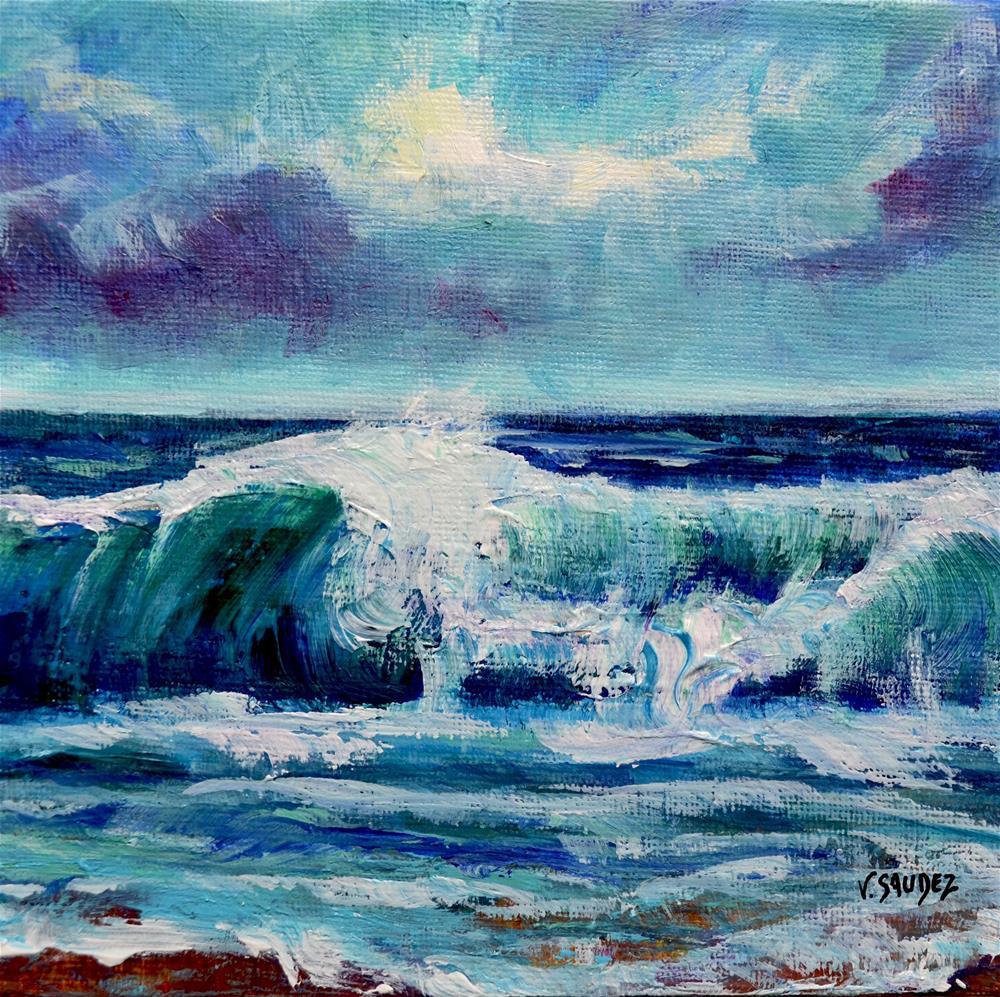 """""""The wave"""" original fine art by Véronique Saudez"""