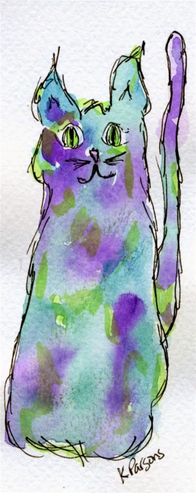 """""""Cat-astrophe"""" original fine art by Kali Parsons"""