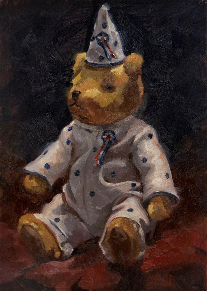 """Teddy Bear"" original fine art by Catherine Bobkoski"