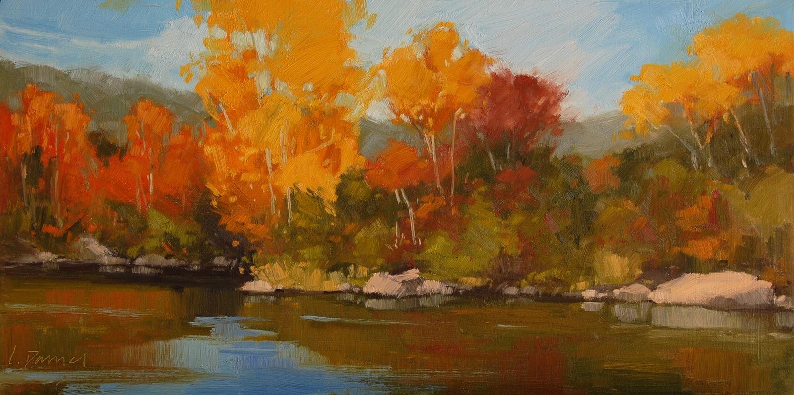 """""""Autumn Symphony"""" original fine art by Laurel Daniel"""