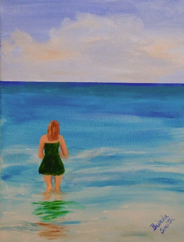 """Knee Deep"" original fine art by Brenda Smith"