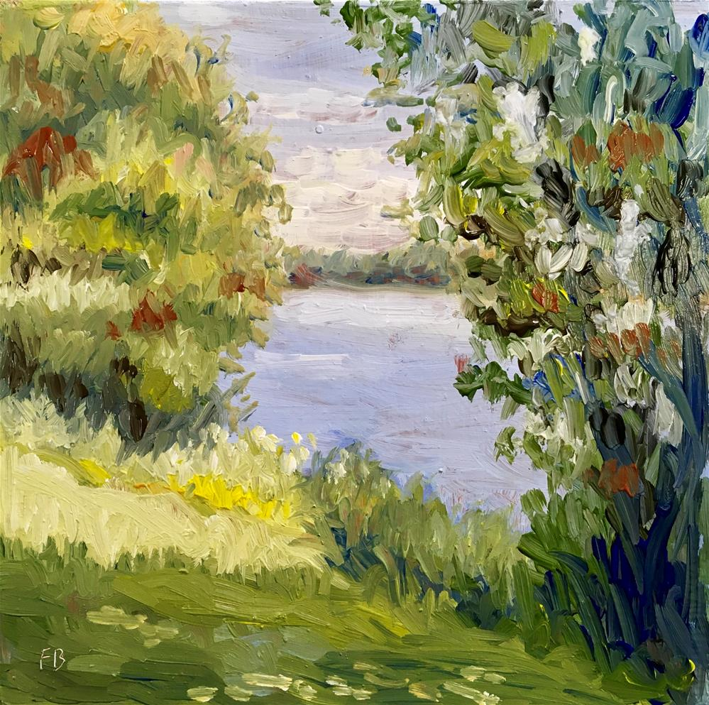 """114 Lake Front Lagoon"" original fine art by Fred Bell"