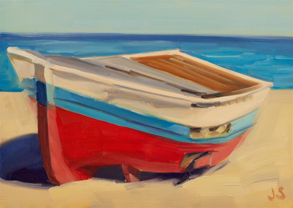"""Beached Boat"" original fine art by Jamie Stevens"