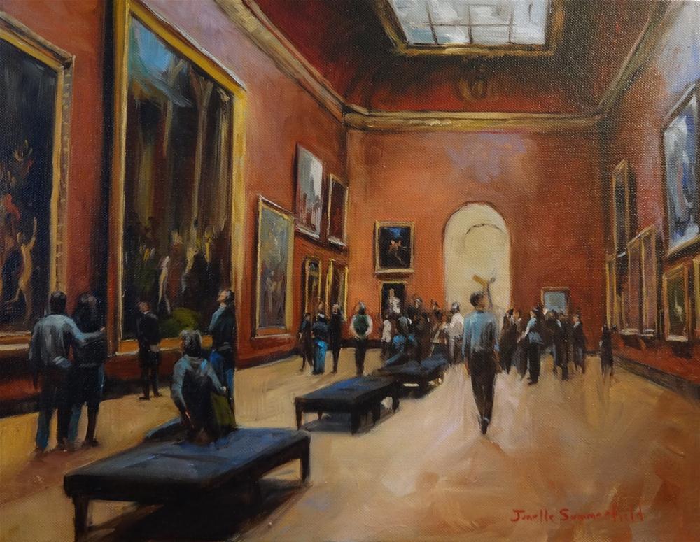 """""""Louvre III"""" original fine art by Jonelle Summerfield"""