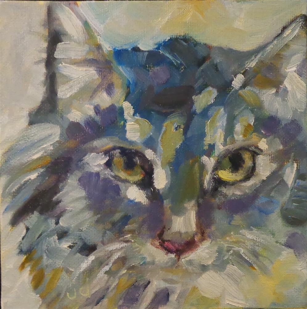 """I'm so blue"" original fine art by Jean Delaney"