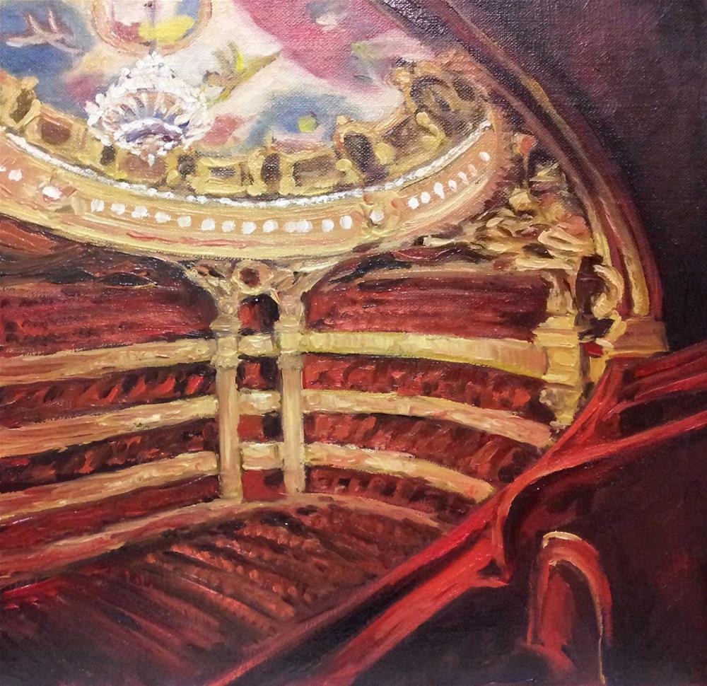"""Opera Garnier balcony"" original fine art by Olga Touboltseva-Lefort"
