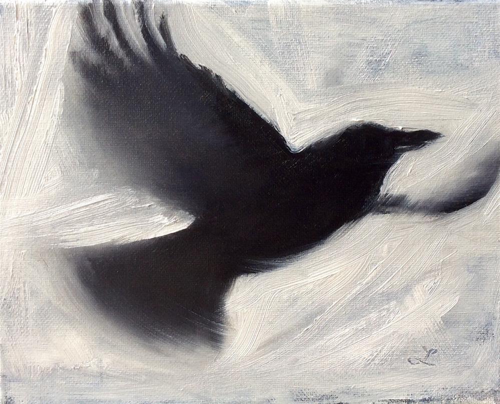 """Crow # 5"" original fine art by Lori Jacobs - Farist"