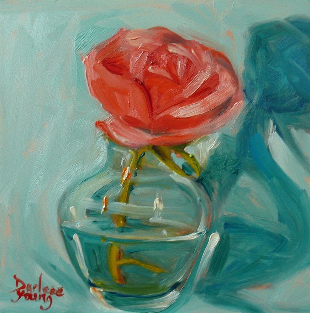 """682 Little Rose"" original fine art by Darlene Young"
