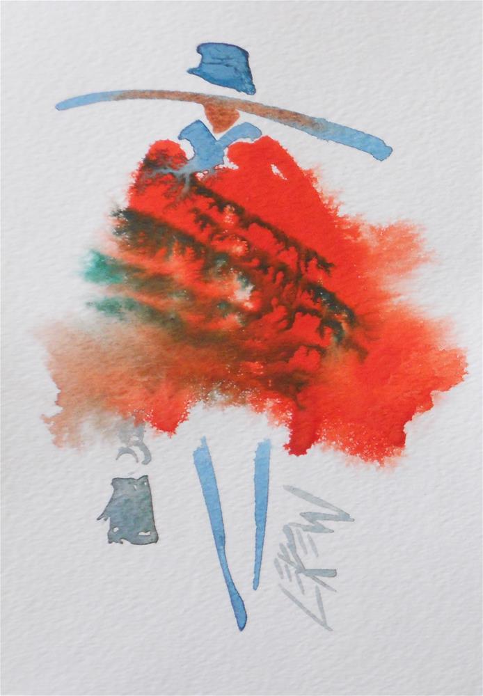 """""""Serendipity Blot Figure #140205 by Larry Lerew"""" original fine art by Larry Lerew"""