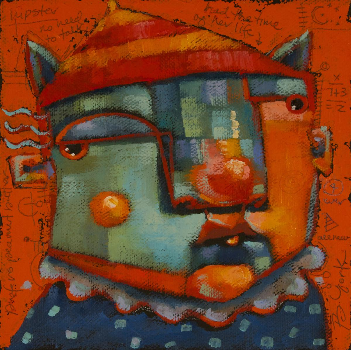 """Chatterbox Is All Ears"" original fine art by Brenda York"