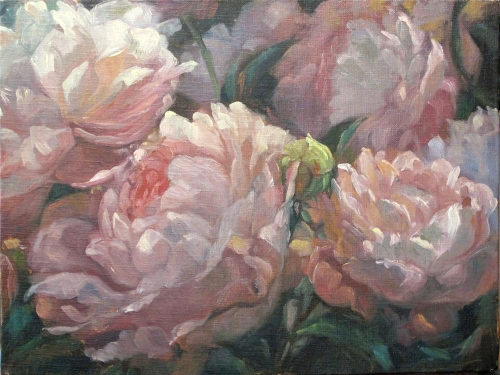 """Evening peonies"" original fine art by Myriam Kin-Yee"
