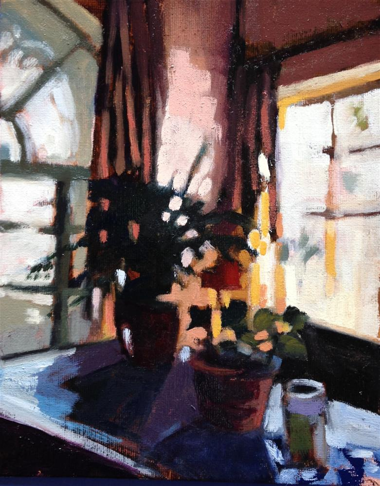 """Looking East/Dining Table"" original fine art by Pamela Hoffmeister"