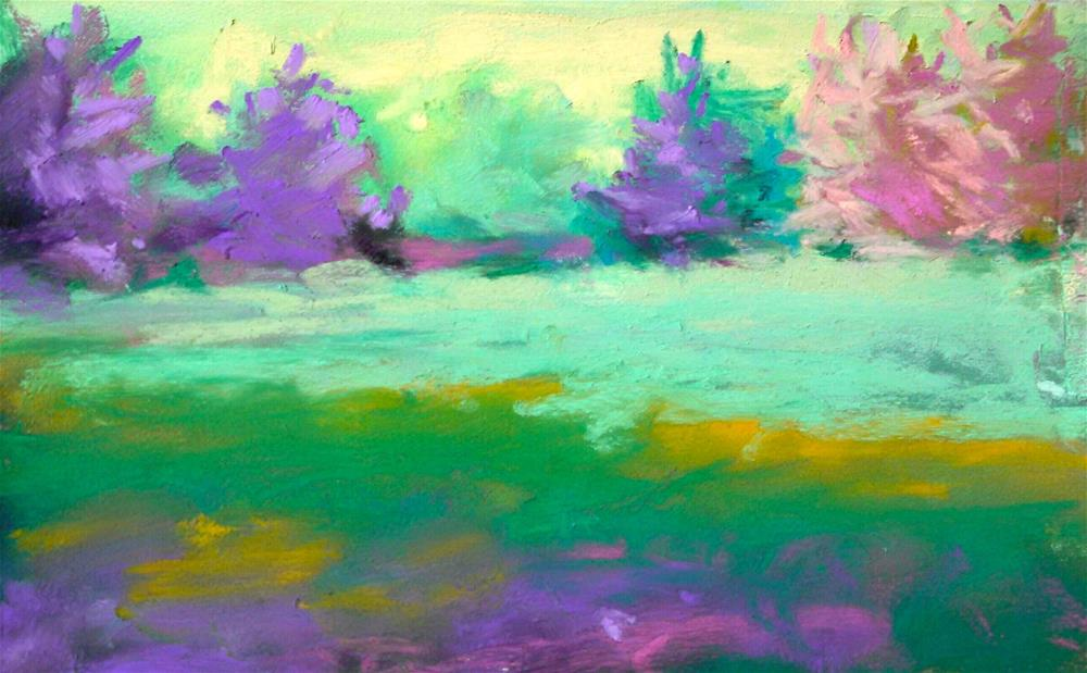 """Dancing Trees"" original fine art by Sandi Miller"