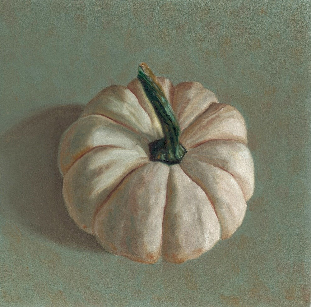 """White Pumpkin"" original fine art by Susan Fern"