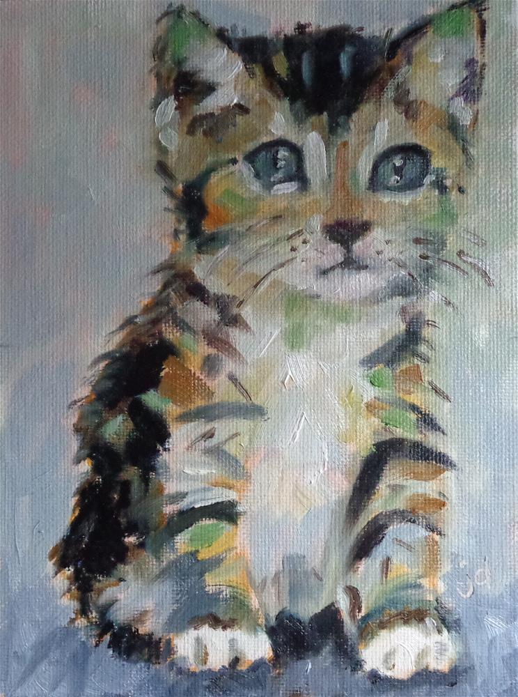 """""""le petit chat"""" original fine art by Jean Delaney"""