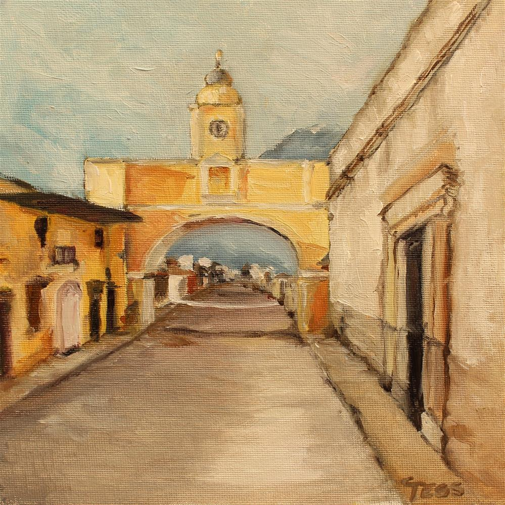 """Arch of Santa Catalina in Antigua Guatemala"" original fine art by Tess Lehman"