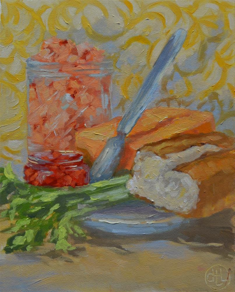 """lunch special"" original fine art by Dottie  T  Leatherwood"