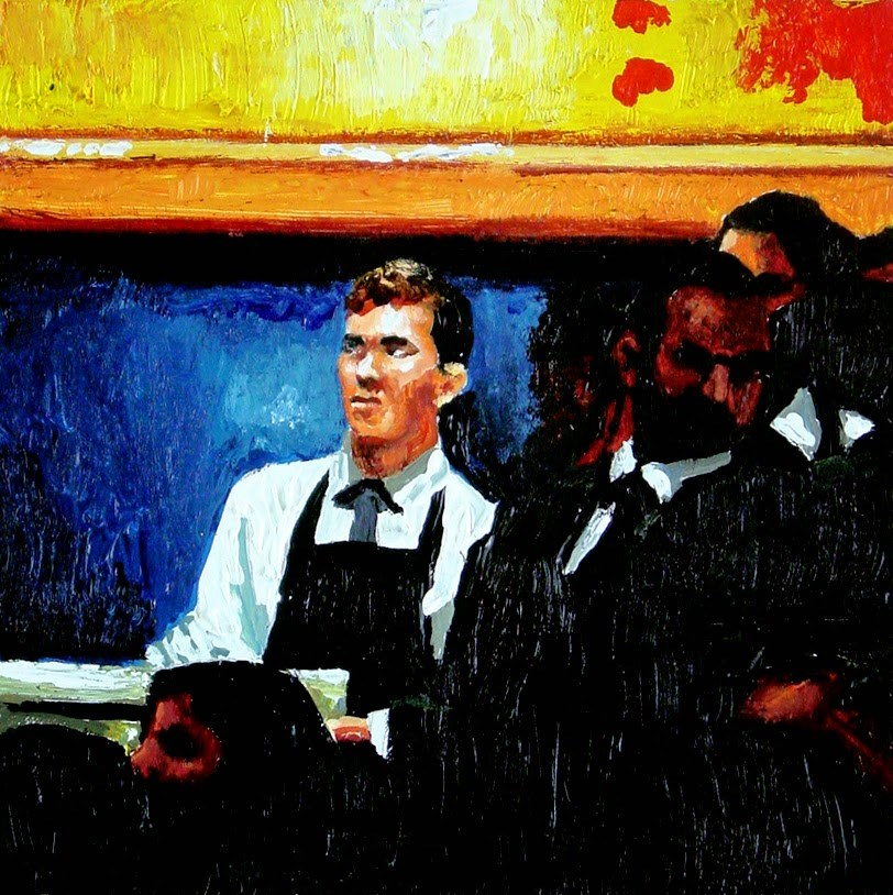 """Assistant- Painting Of Assistant To Evening Auction Christie's"" original fine art by Gerard Boersma"