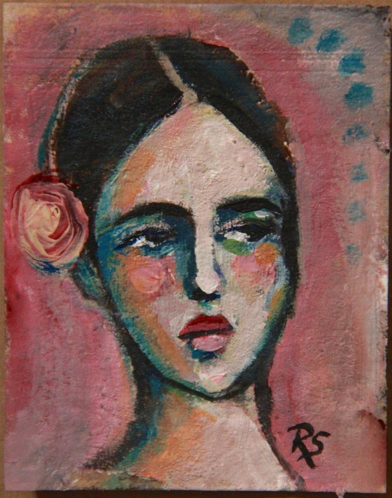 """Tea Bag Portrait - Marianna"" original fine art by Roberta Schmidt"