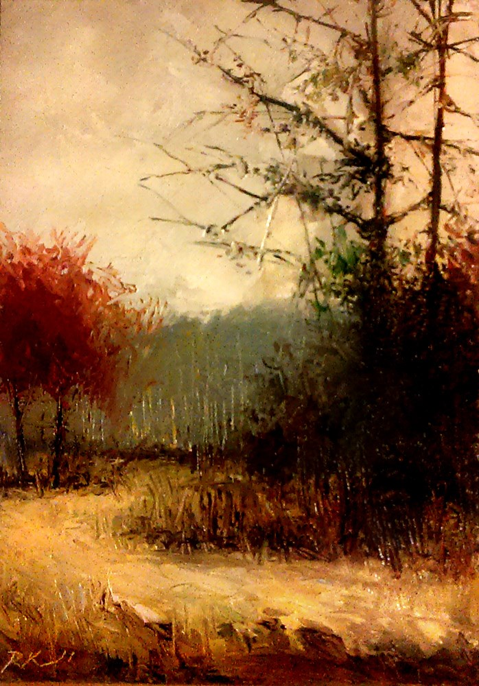 """The Trail Around the Trees"" original fine art by Bob Kimball"