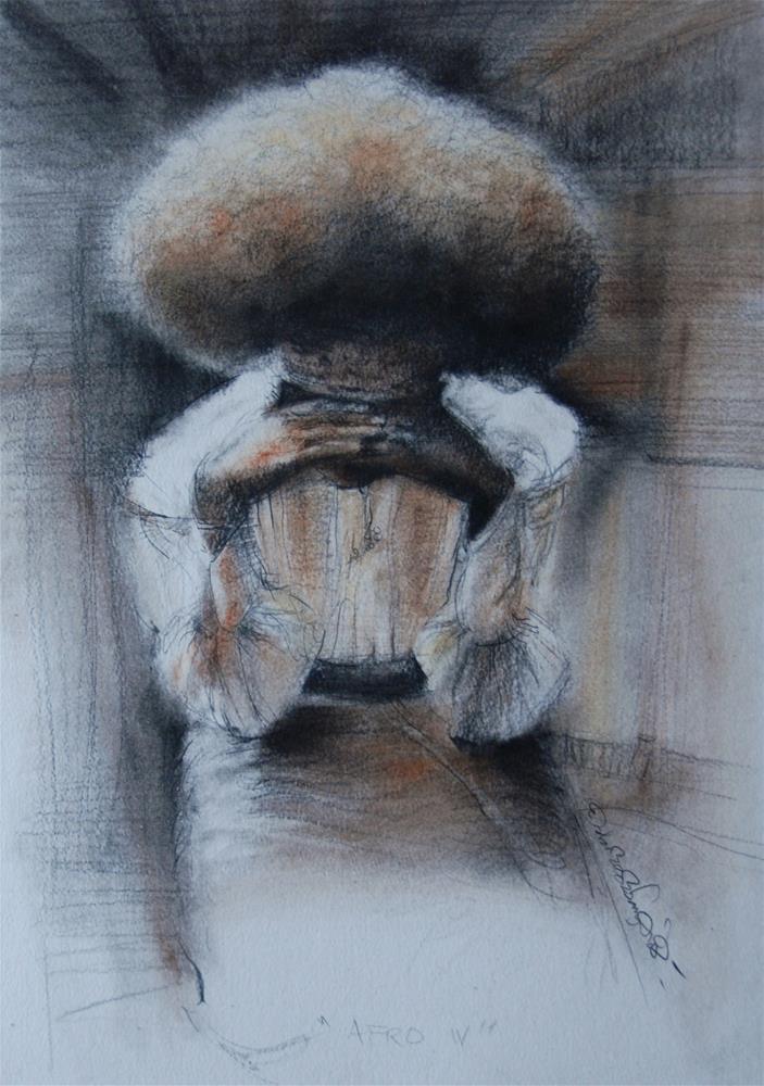 """""""AFRO IV"""" original fine art by Adebanji Alade"""