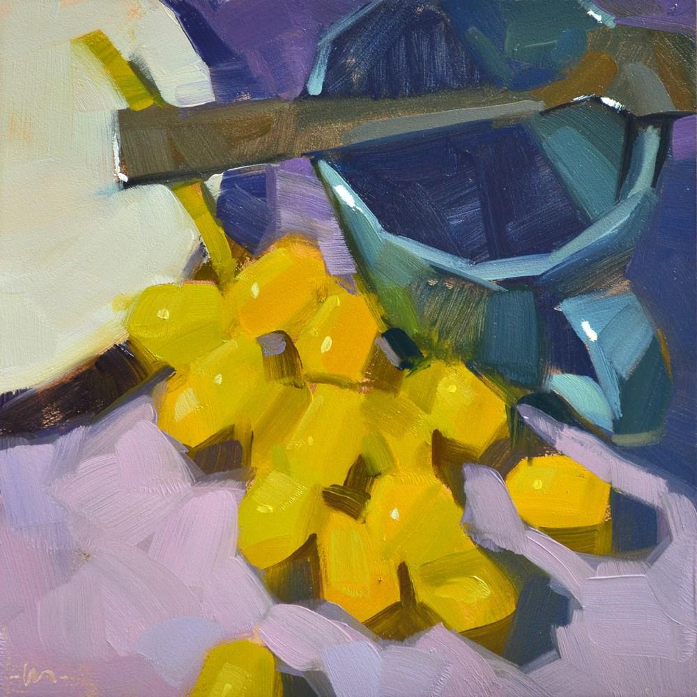 """Golden Grapes"" original fine art by Carol Marine"