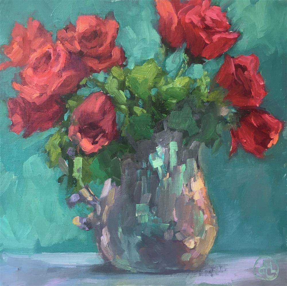 """roses are red"" original fine art by Dottie  T  Leatherwood"