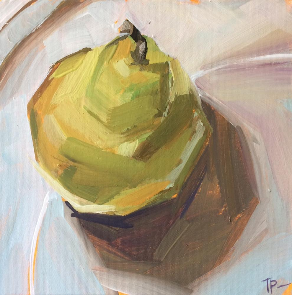 """""""Pear From The Top"""" original fine art by Teddi Parker"""