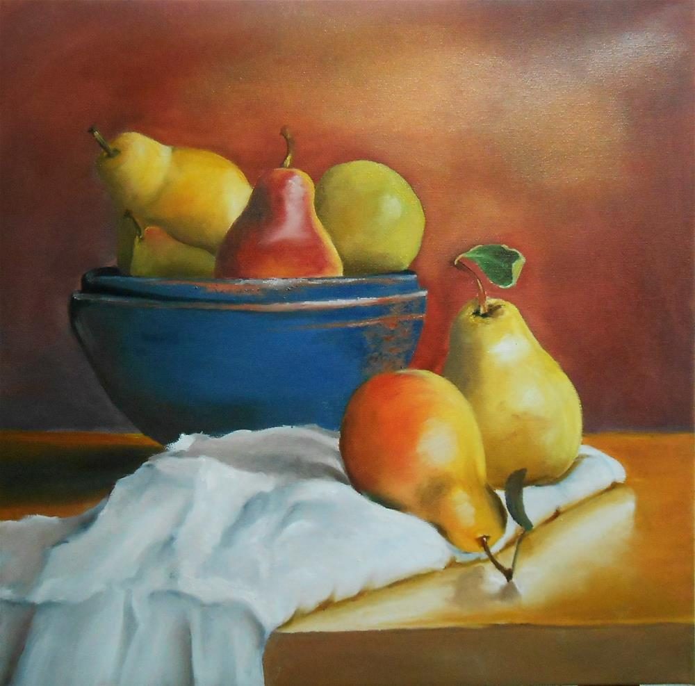 """""""Still Life With Pears"""" original fine art by Laura B."""