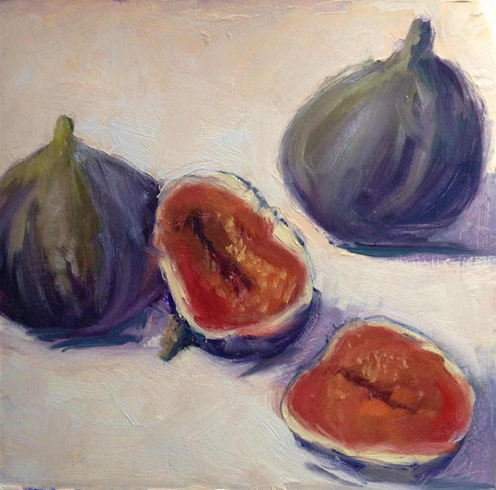 """Day 6 of 30 Figs"" original fine art by Mo Teeuw"